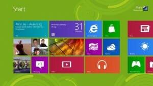 windows 8 Start Screen, image from Microsoft.com