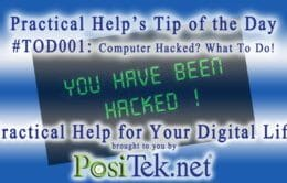 Tip of the Day #001: Computer Hacked? What to Do!