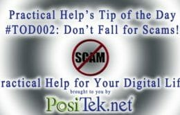 Tip of the Day #002: Don't fall for Scams