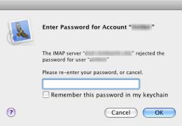 Missing Mac Mail Password