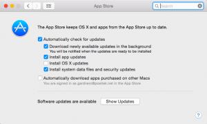 Mac OS X Automatic Updates