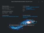 About Bitdefender Screenshot showing program version information