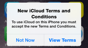 iCloud T&C Notice
