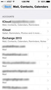 iPhone Mail Accounts