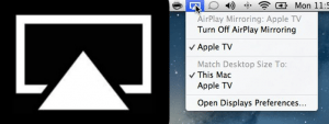 Apple TV and Mac Airplay Icon