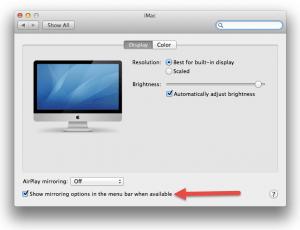 Macbook Pro Airplay Display Checkbox