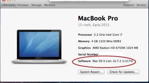 Macbook Pro OS Version Identification