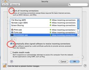 Macbook Pro Firewall Settings