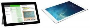 Microsoft Surface Pro 3 and iPad Air
