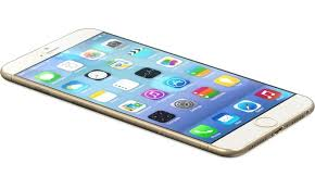 iPhone 6 in white/gold, image from Apple.com