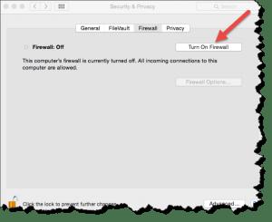 Mac Firewall in OS X