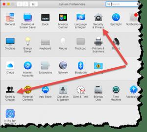 OS X System Preferences Window screenshot Mac Firewall