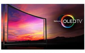 Image of Samsung curved screen TV
