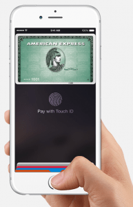 Image of Apple Pay on an iPhone, image from apple.com
