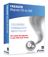 Image of software box, Migrate OS to SSD, image from Paragon Software