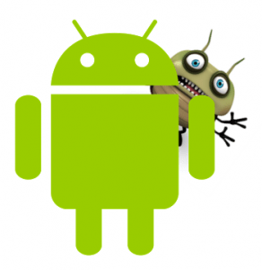 android-logo-with-shutterstock-bug-behind