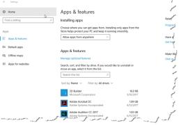 Windows 10 Uninstall Apps