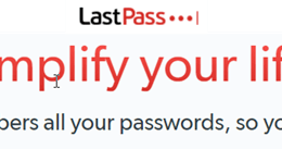 LastPass/Browser Password Conflict