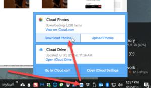 icloud-for-windows-right-click-menu-screenshot