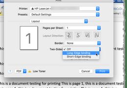 Mac Word 2-sided Printing