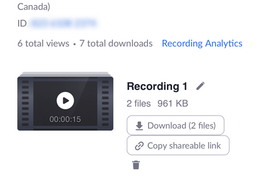 Sending Zoom Recording to Facebook