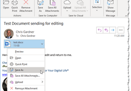 Can't Edit Emailed Document